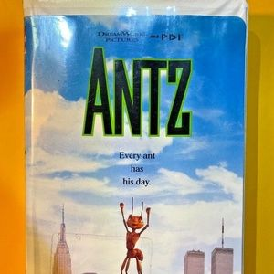 VHS tape Antz by Dreamworks Woody Allen 1999